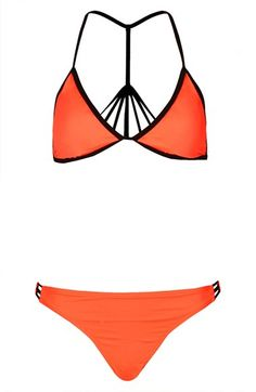Topshop Caged T-Back Bikini available at #Nordstrom