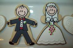 Groom & Bride #wedding #cookies