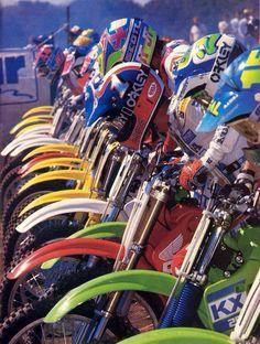 (1988) Vintage Motocross - Honda - Kawasaki - Suzuki - Yamaha Dirt Bikes!