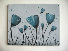 Flower Painting on 16x20 Canvas. $34.95, via Etsy.