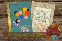 Storybook 1st Birthday Invitation  Vintage by InvitasticInvites