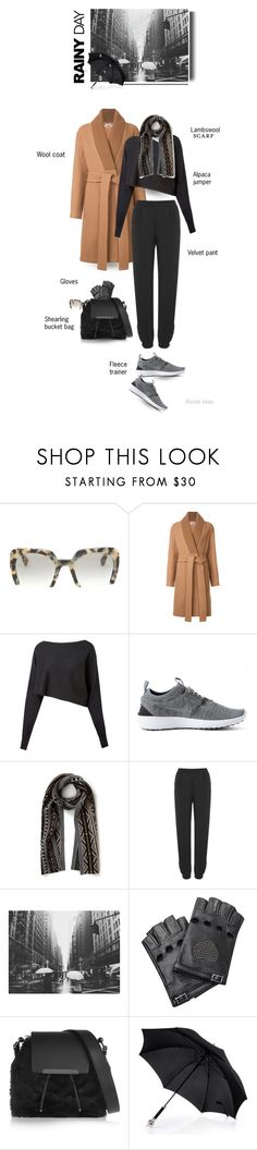 """""""Life isn't about waiting for the storm to pass, it's about learning to dance in the rain"""" by blonde-bedu ❤ liked on Polyvore featuring Miu Miu, STELLA McCARTNEY, Crea Concept, NIKE, Quinton-Chadwick, Velvet, Valentino and Christian Louboutin"""