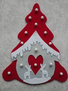 30 Ideas christmas tree diy felt for kids for 2019 Handmade Christmas Decorations, Felt Christmas Ornaments, Christmas Crafts For Kids, Diy Christmas Ornaments, Christmas Art, Felt Crafts, Holiday Crafts, Christmas Applique, Christmas Sewing