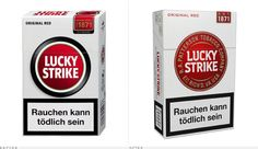 pack / Lucky Strike before and after