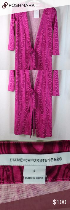 """DIANE VON FURSTENBERG PINK SHADOW WRAP DRESS ARMPIT TO ARMPIT: 17.5"""" LENGTH: 35.5""""  MATERIAL: 100% SILK  STYLE:  WRAP DRESS CONDITION:BRAND NEW WITH TAGS. SOURCED DIRECTLY FROM AN UPSCALE US RETAILER. Diane Von Furstenberg Dresses"""