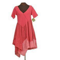 coralforce: light billowy dress in coral pink - Secret Lentil Clothing