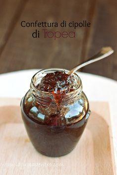 Jam of red onions Fruit Preserves, Fruit Jam, Italian Dishes, Italian Recipes, Mousse, Eating Light, Sweet Chilli, Cheesecake Desserts, Dessert Recipes