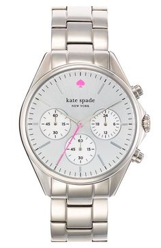 kate spade new york 'seaport' chronograph bracelet watch, 38mm | Nordstrom