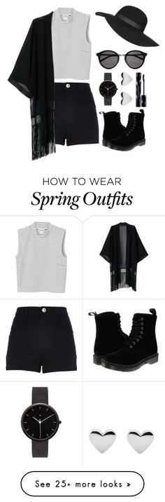 """Spring Outfit"" by taliabar-tur on Polyvore featuring Topshop, Monki, River Island, Yves Saint Laurent, I Love Ugly, Shiseido and Dr. Martens"