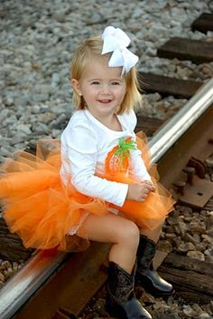 Happy Fall- tutu and pumpkin shirt