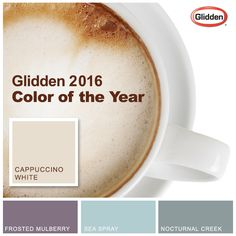 Announcing our 2016 Color of the Year: Cappuccino White—a creamy shade that encourages relaxation.