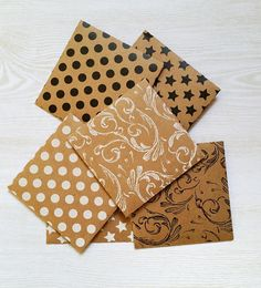 you can never have too much stationery | Patterned Kraft Envelopes handmade by ColourscapeStudios | Brisbane, Australia