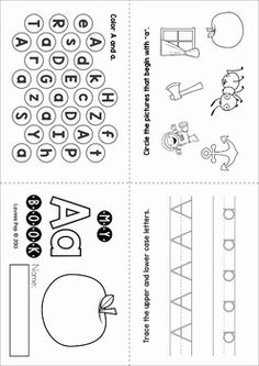 Alphabet Letter Activity Books. Engaging, hands-on learning for beginning and struggling readers.