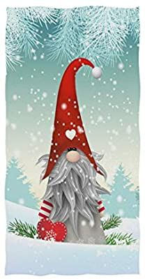 Naanle Cartoon Christmas Traditional Gnome Scandinavian Snowflake Highly Absorbent Soft Large Decorative Guest Hand Towel for Bathroom, Hotel, Gym and Spa x 30 Inches) Christmas Scenes, Christmas Pictures, Christmas Art, Christmas Projects, Valentine Crafts, Holiday Crafts, Valentines, Christmas Knomes, Wallpapers