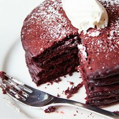 Red Velvet Pancakes for the Kids... or Adults! Start the weekend off right.   Eat Ditch