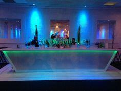 Bat Mitzvah LED Light-Up Bar {Exquisite Caterers at Marlboro Jewish Center NJ, Unlimited Exposures} - mazelmoments.com