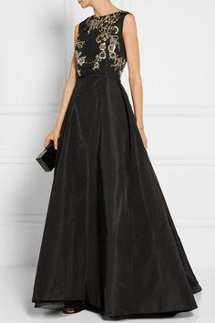 Oscar de la Renta   Embellished silk-faille gown   NET-A-PORTER.COM
