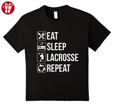Kids Funny Eat Sleep Lacrosse Repeat TShirt 10 Black (*Amazon Partner-Link)