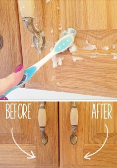Remove Kitchen Cabinet Gunk With Vegetable Oil And Baking Soda