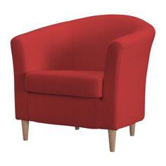 TULLSTA Fotel, Ransta czerwony 349,99 PLN