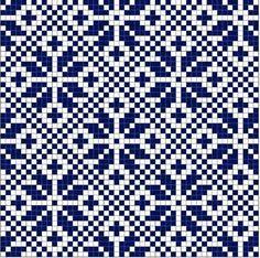 Snowflake in Diamond Norwegian Fair Isle pattern. simple, yet very effective - Knitting Journal