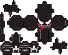 Venom Eddie Brock by SharkBomb on DeviantArt Fabric Origami, Paper Crafts Origami, 3d Paper, Paper Toys, Origami Lamp, Paper Gifts, Origami Templates, Box Templates, Banner Template