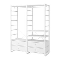 Treat yourself with ELVARLI 2 section shelving unit, white. ELVARLI storage system adapts to your space. The open solution with durable bamboo shelves creates an attractive display of your belongings. Bamboo Shelf, Ikea, Painted Drawers, Plastic Drawers, Making Space, Couch Furniture, New Beds, Drawer Fronts, Adjustable Shelving