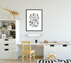 Items similar to Alphabet Art Printable Poster - ABC Poster - Toddler Room Decor on Etsy Kitchen Artwork, Kitchen Posters, Toddler Room Decor, Toddler Rooms, Kids Homework Room, Kids Room, Abc Poster, Alphabet Art, Home Printers