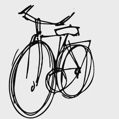 Bicycle illustrated pen on paper. Bicycle Illustration, Web Design, Graphic Design, Header Image, Bike, Paper, Instagram Posts, Bicycle, Design Web