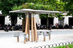 Escale Numérique - La pause urbaine high-tech par Mathieu Lehanneur pour JCDecaux // © Felipe Ribon