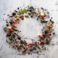 Foraged wreath.
