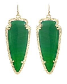 Skylar Earrings in Green Agate - Kendra Scott Jewelry