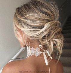 Wedding hairstyle , updo hairstyle inspiration ,hairstyles ,updo ,messy updo, Hair Style ,  #hairstyle