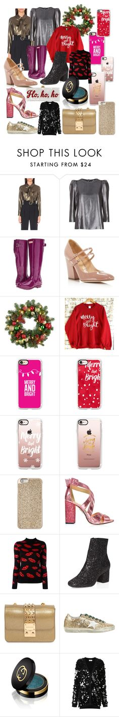 """""""Merry and Bright"""" by sabrinabuizza on Polyvore featuring mode, Claudie Pierlot, Hunter, Sergio Rossi, Improvements, Casetify, Michael Kors, Charlotte Olympia, Yves Saint Laurent et Dorothy Perkins"""