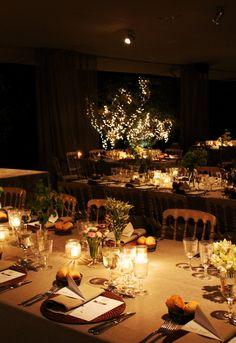 #lechefcatering Masia Ribas #mesas de noche #velas