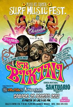 Mexico City band, Sr. Bikini, perform live at Los Olvidados in Playa del Carmen on August 25th!