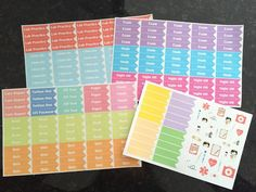 Nursing School Stickers Set of 230 for your by OneOrangeSnowflake