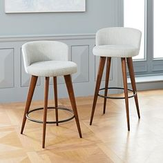 Shop bar stools from west elm. Find a wide selection of furniture and decor options that will suit your tastes, including a variety of bar stools. Leather Counter Stools, Kitchen Counter Stools, Swivel Counter Stools, Bar Counter, Counter Design, Kitchen Chairs, Mid Century Bar Stools, Mid Century Dining, West Elm