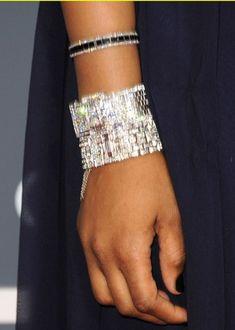 Neil Lane bracelets on Jennifer Hudson at the Grammys Old Hollywood Glam, Celebrity Jewelry, Jennifer Hudson, Fantasy Jewelry, Bangles, Bracelets, Jewelry Box, Jewellery, Body Shapes
