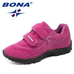 fcca4a19c1670 Bona Новое поступление Горячая Стиль Обувь для девочек повседневная обувь  Hook & Loop детей Обувь удобные