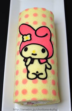 """#Cake that """"rolls trippingly off the tongue.""""My Melody Cake Roll『マイメロディのデコロール』"""