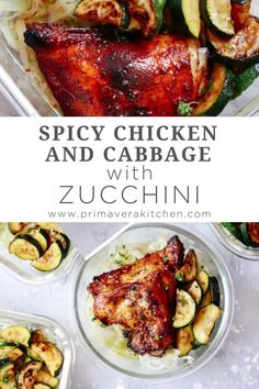 This healthy and easy Spicy chicken and cabbage with zucchini is a meal prep recipe that takes just 15 minutes to prepare! This low carb chicken and vegetables dinner is a quick and easy solution for a busy weeknight. #fall #healthyfallrecipe #mealpreprecipe Best Paleo Recipes, Spicy Recipes, Fall Recipes, Chicken And Cabbage, Chicken And Vegetables, Breakfast Potatoes Easy, Healthy Cooking, Healthy Eats, Chicken Meal Prep