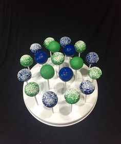 Birthday Cake Pops Super Why Party Favor Blue and Green by ELAsTreats on Etsy