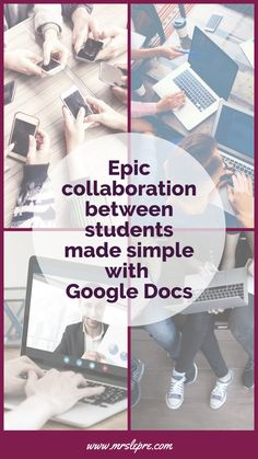 Gone are the days of students emailing revisions back and forth. Foster epic collaboration in real-time with your students with Google Docs. google docs   educational technology   edtech   using Google Docs   student collaboration   group work   student groups   first year teacher   teacher tips   teaching strategies   integrating technology Educational Videos, Educational Technology, Technology Tools, Technology Integration, Teaching Philosophy, Philosophy Of Education, Teaching Methods, Teaching Strategies, Teaching Resources