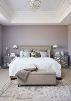 Most Design Ideas Blue Grey Bedroom Pictures, And Inspiration – Modern House Bedroom Accent, Contemporary Bedroom, Best Bedroom Colors, Traditional Bedroom, Trending Decor, Bedroom Paint Colors, Interior Design, Bedroom Wall Colors, Home Decor