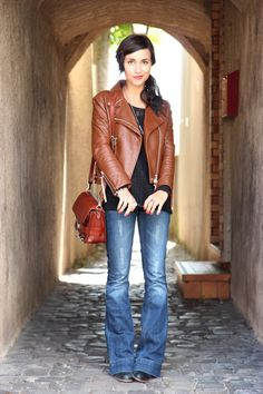 Flare and leather