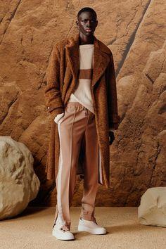 Funky Fashion, Mens Fashion, How To Wear Shirt, Mens Wool Coats, Stripped Pants, Hugo Boss Man, Mens Fall, Fashion Show Collection, Stylish Men