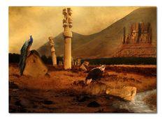 Persepolis Ruins - The Spirit of Simorgh of Shahnameh