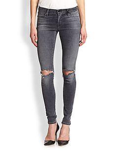 J Brand 620 Distressed Skinny Jeans