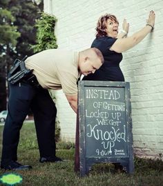 Police family pregnancy announcement.  Hahahaha